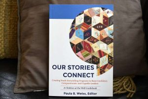 "Book edited by Paula Weiss on the art and methods of in-person storytelling, titled ""Our Stories Connect"" at her home on Friday, May 17, 2019 in Cohoes, N.Y. (Lori Van Buren/Times Union) https://s.hdnux.com/photos/01/02/72/41/17541241/3/ratio3x2_750.jpg"